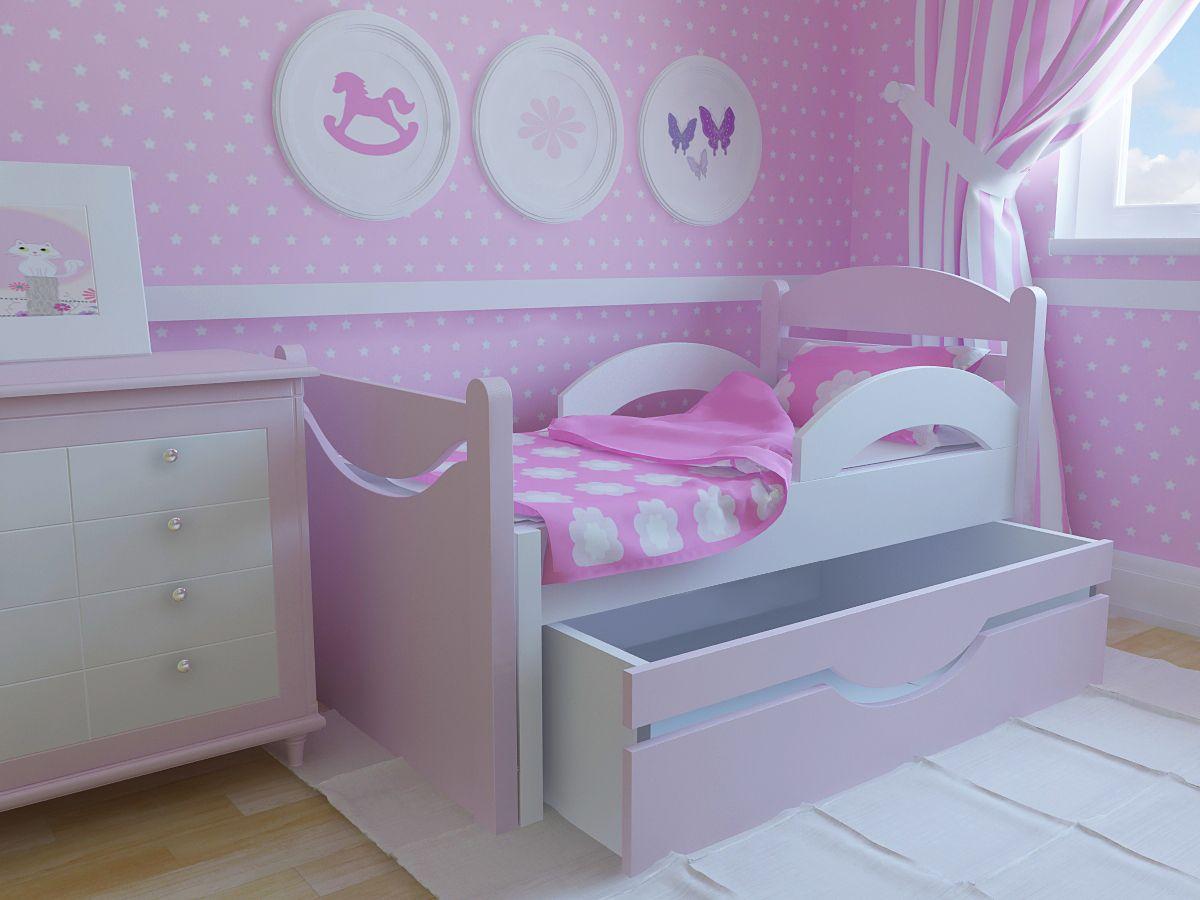 кровати для детей с 2 лет с бортиками фото
